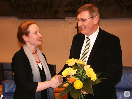 Anna-Maria Ehrmann-Schindlbeck und OB Beck