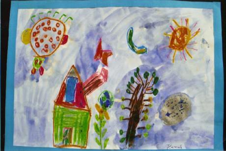 Gemaltes Bild eines Kindes vom Kindergarten Bergstraße